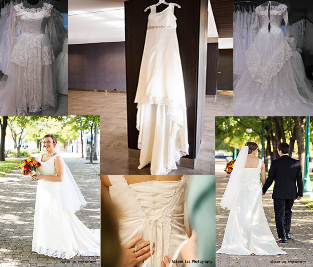 This Brides Dress Was Made From Her Grandmothers Wedding