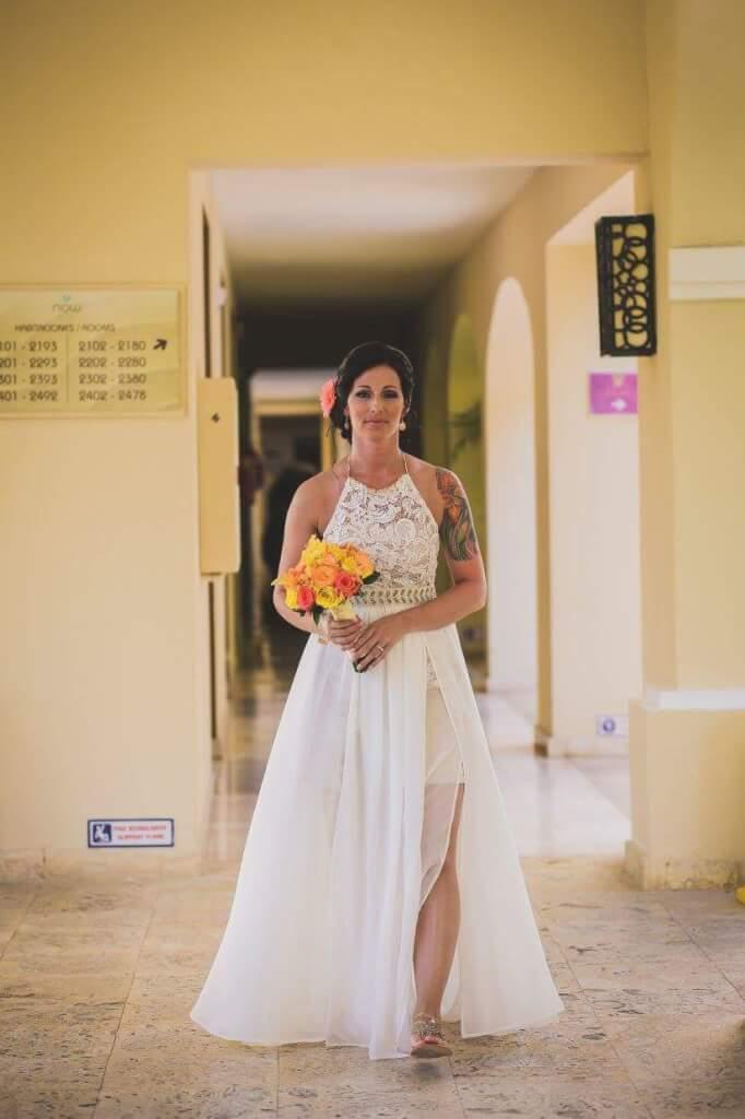 Halter wedding dress custom designed for tropical destination custom wedding dress design by jenmar creations halter wedding dress junglespirit Image collections