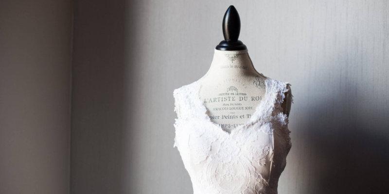 Vintage wedding gown redesign